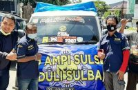 Bantuan AMPI SulSel untuk SulBar.