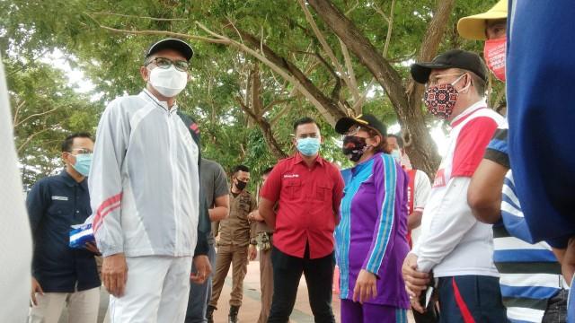 Jogging penuh kesejukan bersama Nurdin Abdullah.