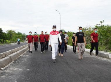 Jogging Nurdin Abdullah.