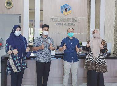 Kerja sama Bulusaraung Travel dengan BSI Makassar.