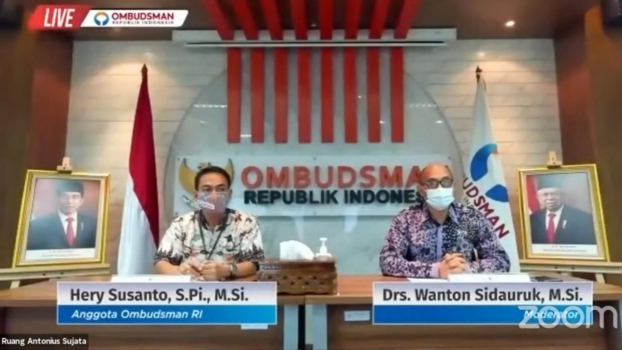 Konferensi Pers Ombudsman RI terkait kebakaran kilang minyak Balongan.