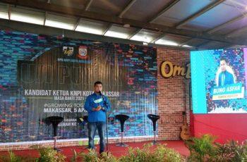 Kegiatan uji publik Ketua KNPI Makassar.