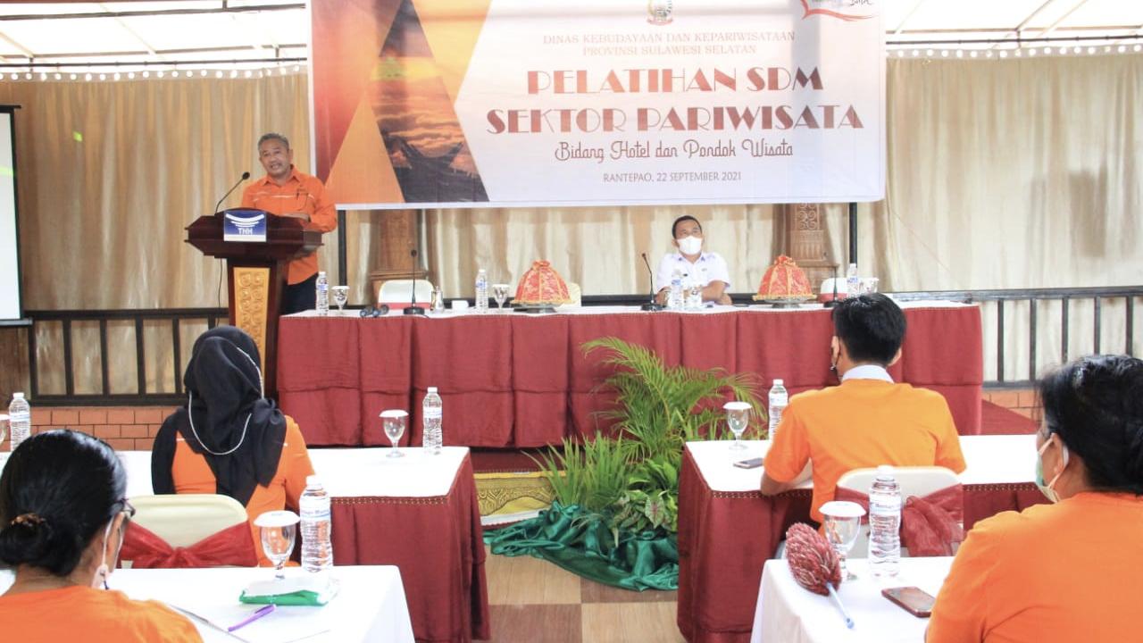 Kegiatan pelatihan SDM Pariwisata di Toraja Utara.