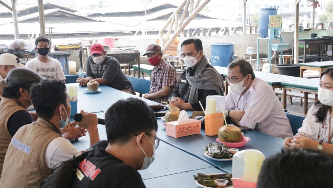 Kunjungan Ombudsman RI ke Pasar Ikan Moderen Muara Baru, Jakarta Utara.
